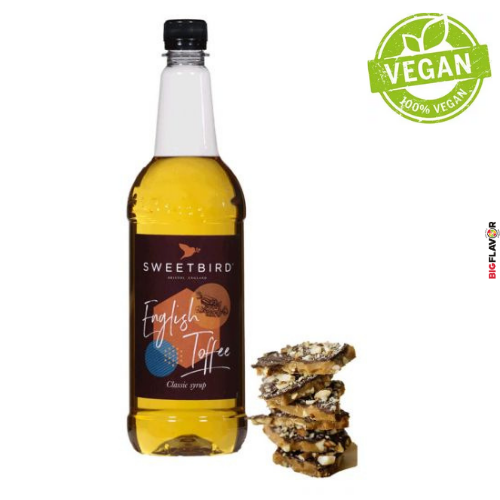 [NSB108] English Toffee Sirop 1ltr Sweetbird